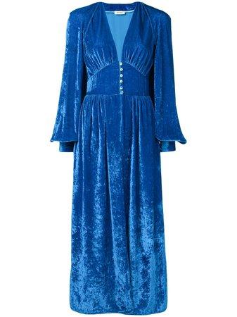Attico Velvet Robe Dress - Farfetch
