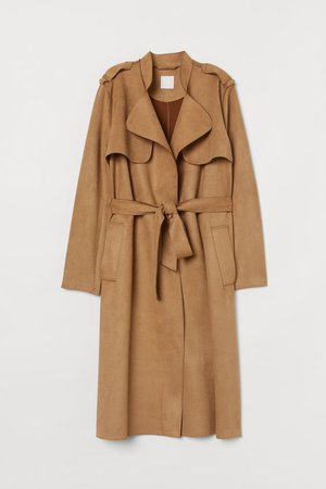 Trenchcoat - Dark beige - Ladies | H&M US