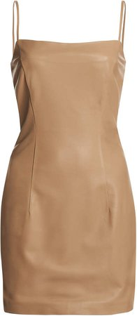 Zeynep Arcay Leather Mini Dress
