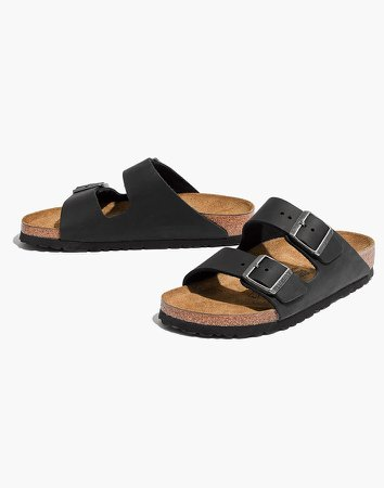 Birkenstock Arizona Sandals in Black Leather