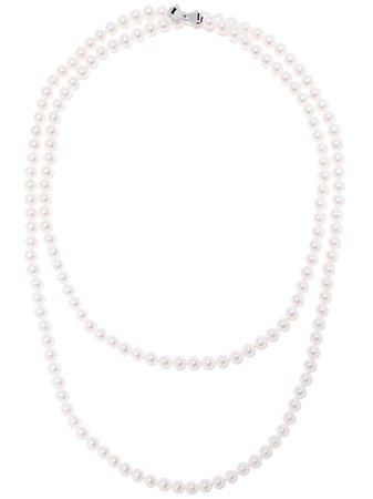 Tasaki 18Kt White Gold 7.5Mm Akoya Pearl Long Necklace 120Cm Continuity | Farfetch.com
