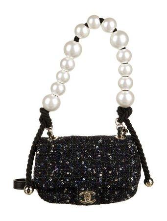 Chanel 2019 Tweed Pearl Mini Flap Bag - Handbags - CHA464520   The RealReal