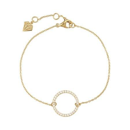 Puffy Pave Round Gold Bracelet – Wanderlust + Co