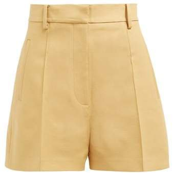 Casey Cotton Twill Shorts - Womens - Beige