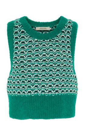 Fluffy Structure Jacquard-Knit Sweater Vest By Dorothee Schumacher | Moda Operandi