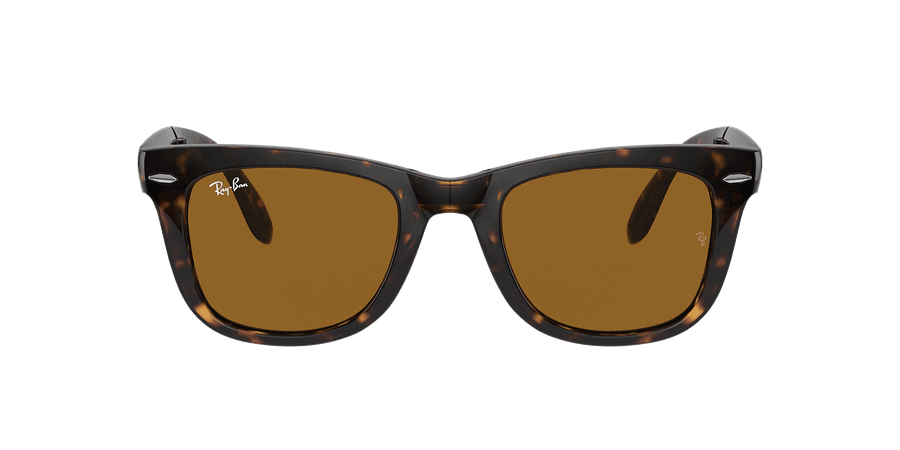 Ray-Ban RB4105 WAYFARER FOLDING CLASSIC 50 Brown & Tortoise Sunglasses | Sunglass Hut USA