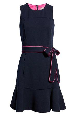 Eliza J Sleeveless Contrast Belted Minidress | Nordstrom