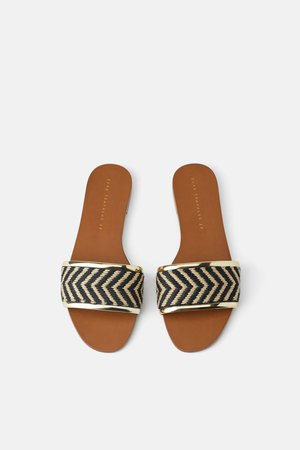 FLAT NATURAL SANDAL - View all-SHOES-WOMAN | ZARA United States