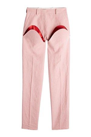 Linen Pants with Cut-Out Detail Gr. S