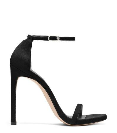 Nudist high heel sandal