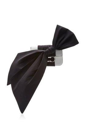 Logo Bow Leather Clutch By Carolina Herrera | Moda Operandi