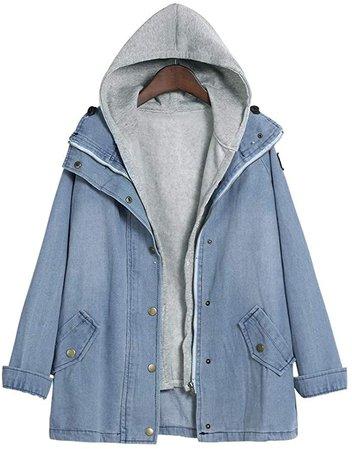 LISTHA Winter Parka Outwear Women Warm Collar Hooded Coat Jacket Denim Trench at Amazon Women's Coats Shop