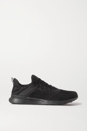 Techloom Tracer Mesh And Neoprene Sneakers - Black