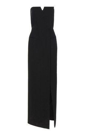 GIVENCHY STRAPLESS WRAP-EFFECT CADY GOWN