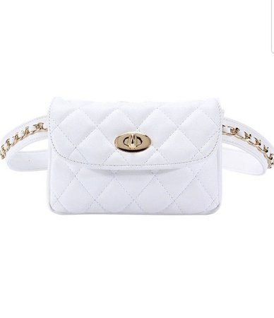 white fanny pack