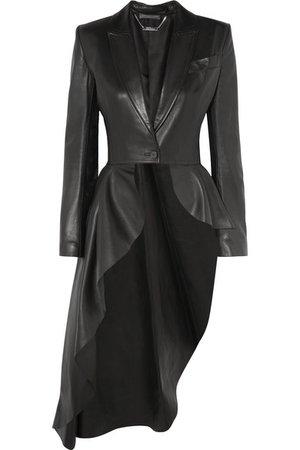 Alexander McQueen | Asymmetric leather blazer | NET-A-PORTER.COM