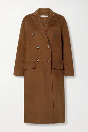Hayden Double-breasted Felt Coat - Light brown