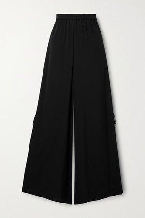 Boheme Silk-crepe Wide-leg Pants - Black
