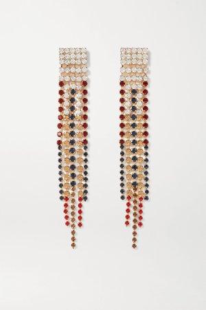 Gold Iside gold-tone crystal earrings   Rosantica   NET-A-PORTER