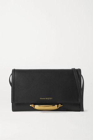 Black The Story leather shoulder bag | Alexander McQueen | NET-A-PORTER