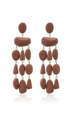 Tallulah Wood Earrings by Cult Gaia | Moda Operandi