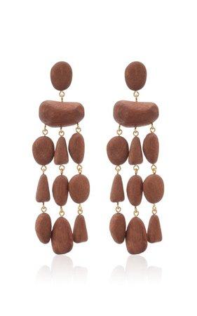 Tallulah Wood Earrings by Cult Gaia   Moda Operandi