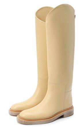Женские желтые кожаные сапоги JIL SANDER — купить за 111500 руб. в интернет-магазине ЦУМ, арт. JS35043A-12002