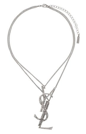 ysl silver necklace