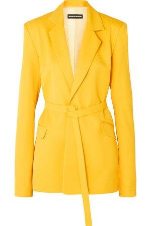 House of Holland | Belted twill blazer | NET-A-PORTER.COM