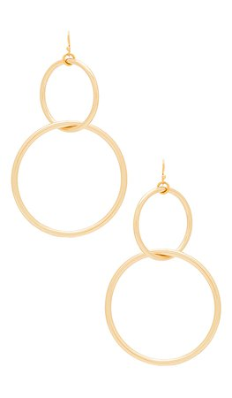 Vanessa Mooney The Interlocking Hoop Earrings in Gold | REVOLVE