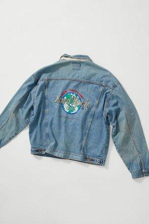 Vintage Hard Rock Café Denim Jacket | Urban Outfitters
