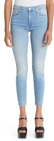 The Looker Fray High Waist Ankle Skinny Jeans