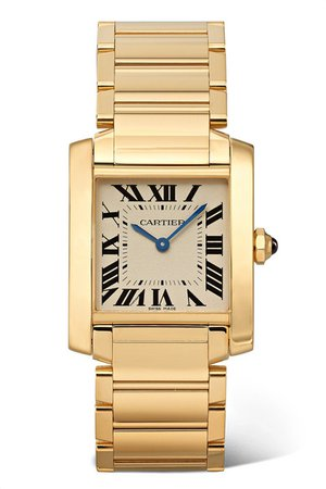 Cartier | Tank Française 25mm medium 18-karat gold watch | NET-A-PORTER.COM