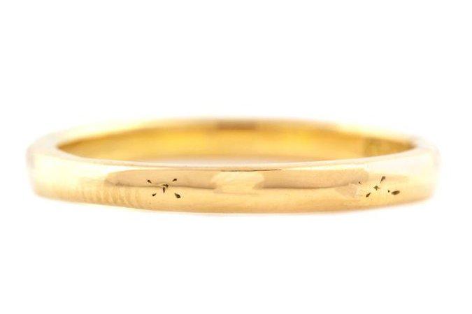 Art Deco 18ct Gold Wedding Band Ring – Lillicoco