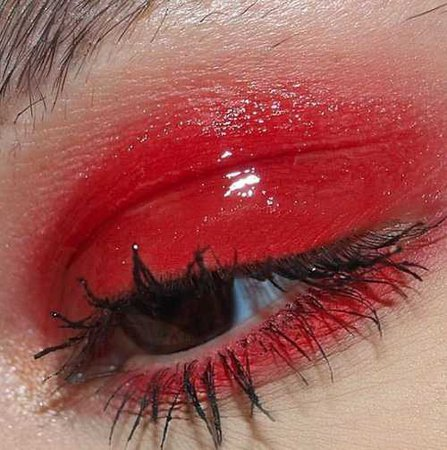 Red, glossy, and glazed eye (wowitsjessica)