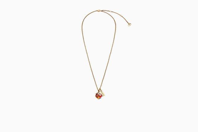 """Collier """"D-Murrine"""" en métal vieilli doré et verre de Murano - Dior"""