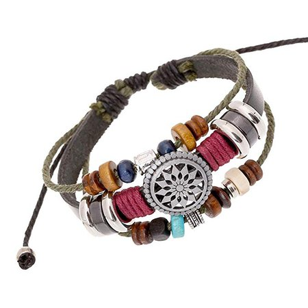 Amazon.com: Usstore Women Lady Bohemia Wind Beaded Multilayer Hand Woven Bracelet Jewelry: Clothing