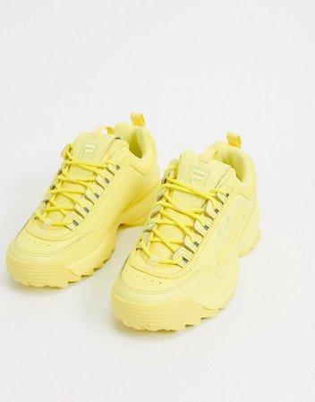 Fila Disruptor II Premium sneakers in yellow | ASOS
