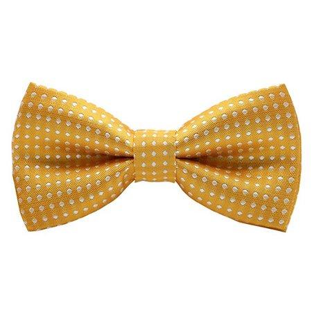Yellow polka dot bow-amazon