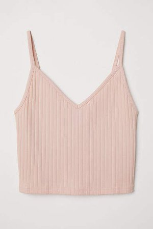 Short Jersey Camisole Top - Orange