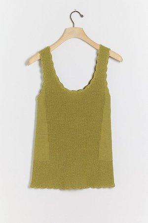 Saoirse Scalloped Knit Tank | Anthropologie