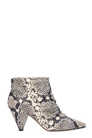 Marc Ellis Grey Leather Ankle Boots