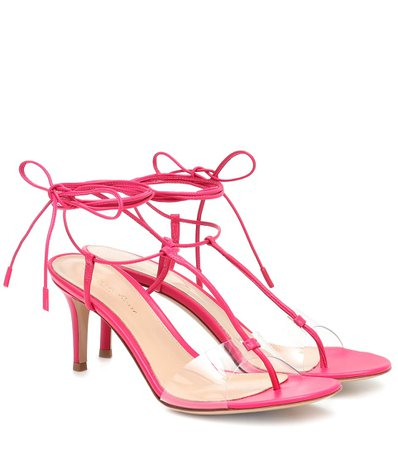 Gianvito Rossi - Gwyneth PVC and leather sandals | Mytheresa