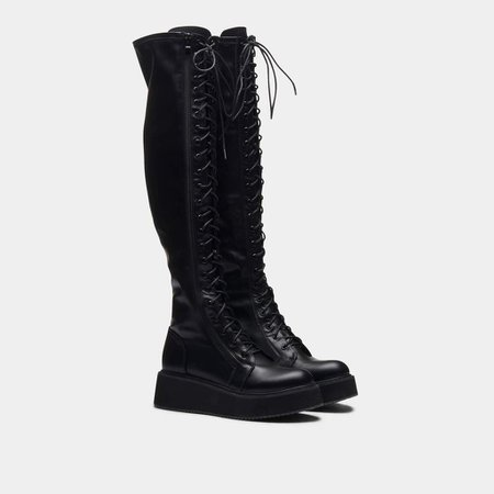 *clipped by @luci-her* Blade Lace Up Boots   Koi