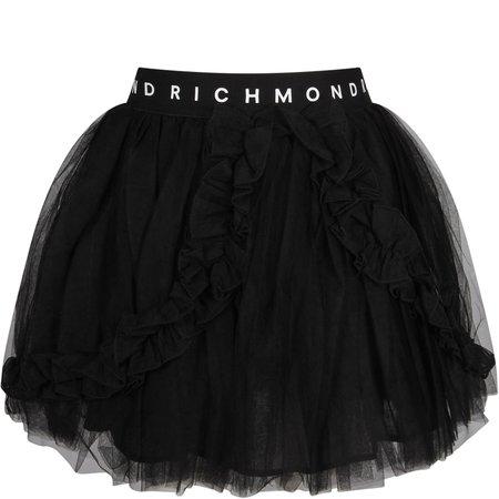 Richmond Black Girl Skirt With White Logo