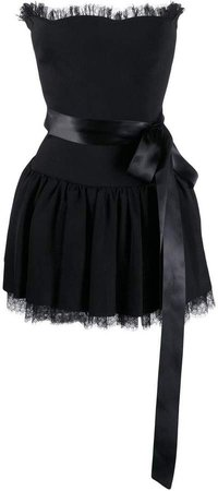 tulle trim mini dress