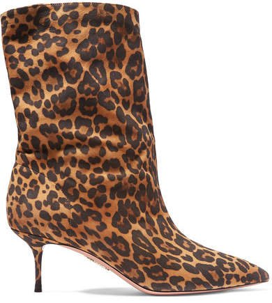 Very Boogie 60 Leopard-print Suede Ankle Boots - Leopard print