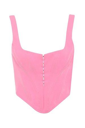 Clothing : Tops : 'Frangelica' Pepto Pink Boned Corset