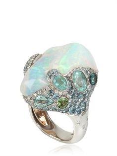Ocean Breeze opal ring