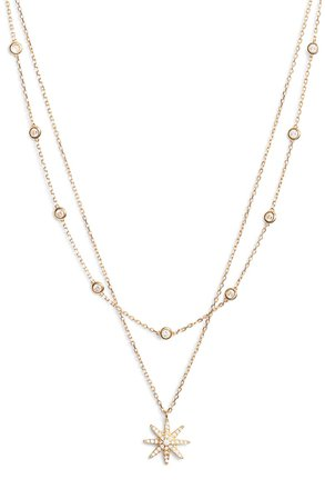 Sterling Forever Burst Layered Necklace | Nordstrom